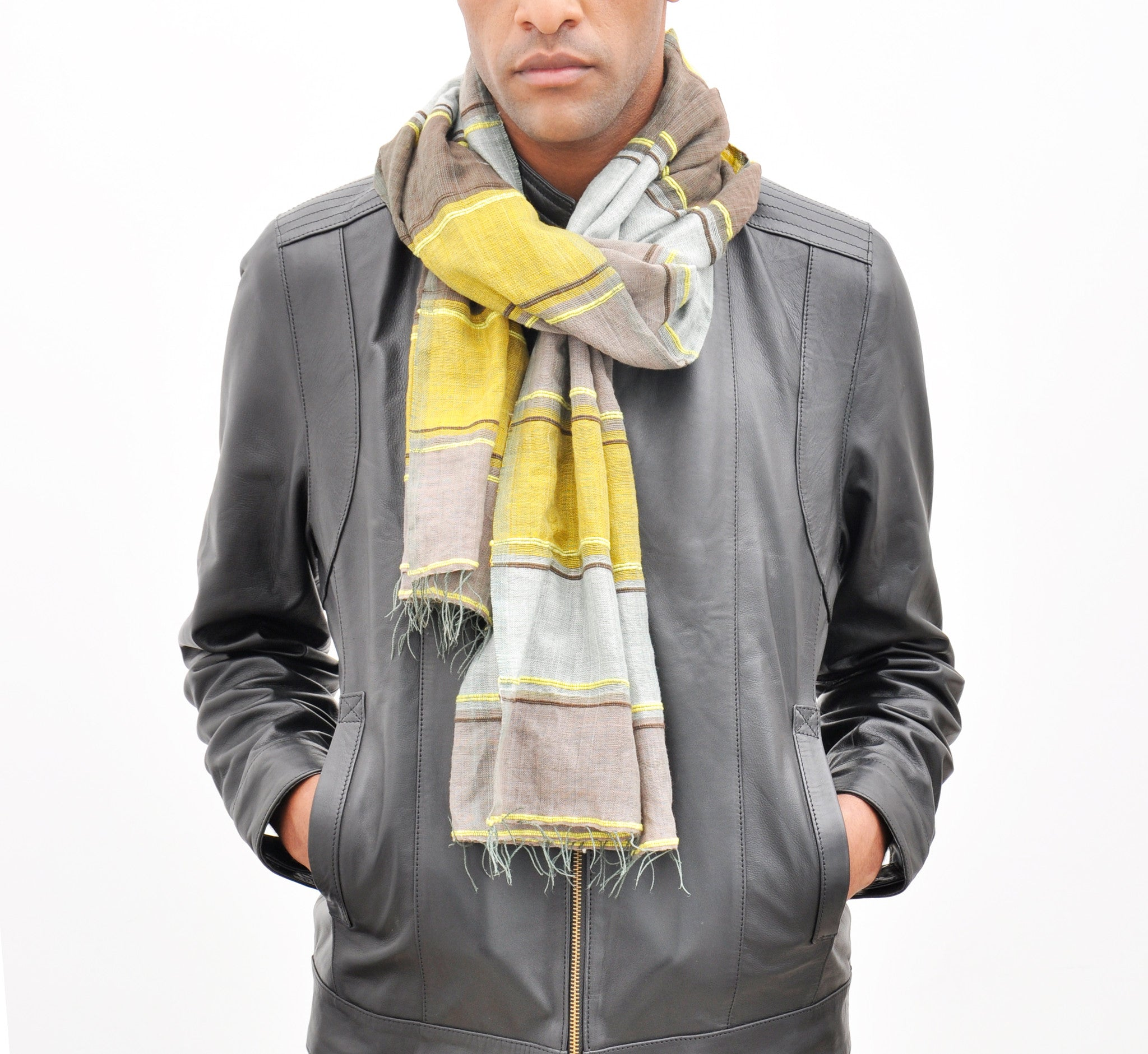 The Camo Scarf  Yellow