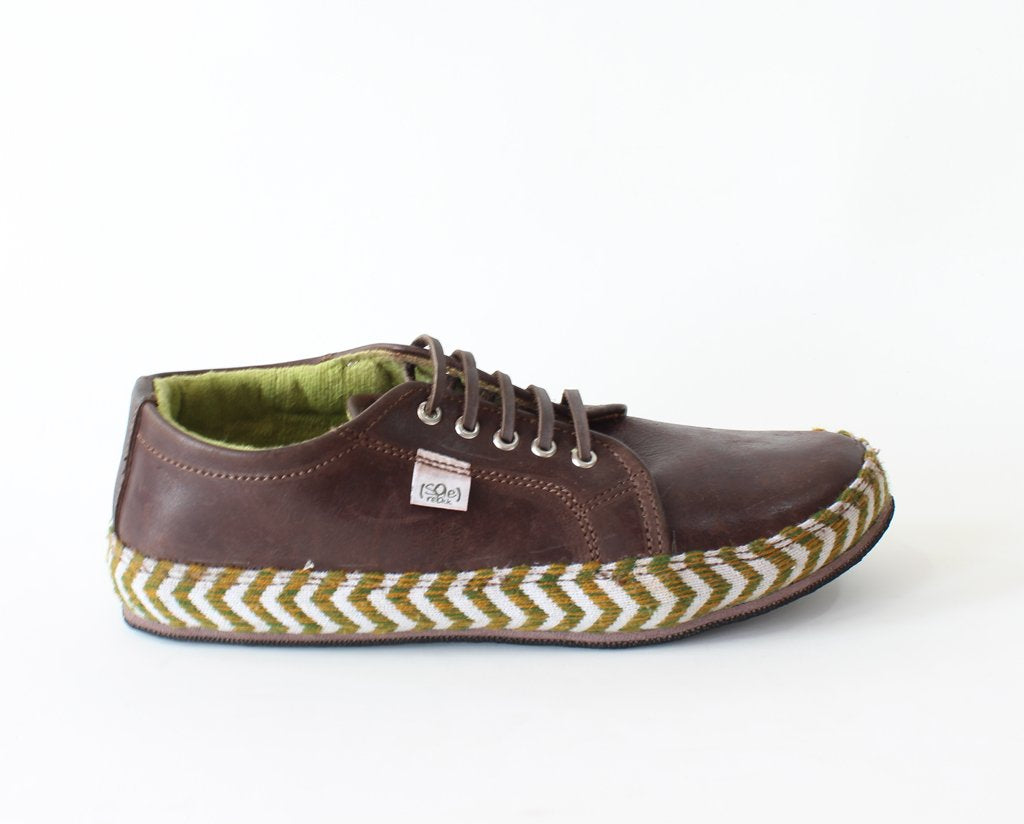 solerebels Chestnut Brown Leather URBAN RUNNER blt FX Lace-Ups