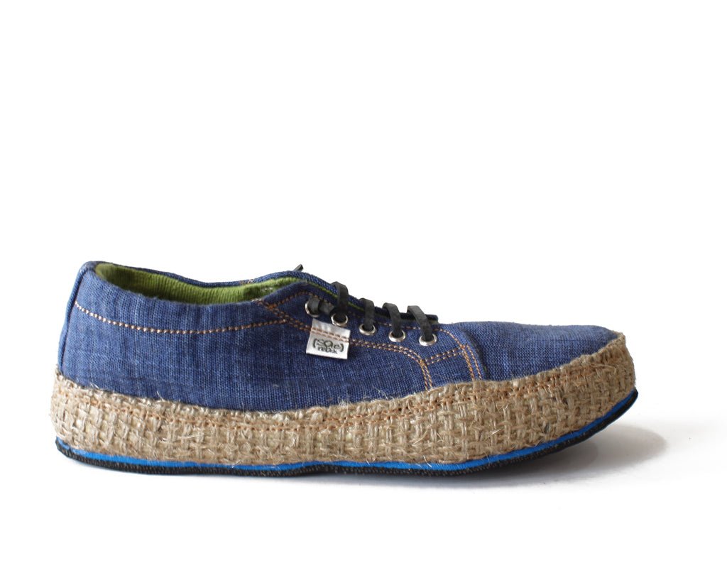 solerebels Denim Blue URBAN RUNNER natuu Lace-Ups