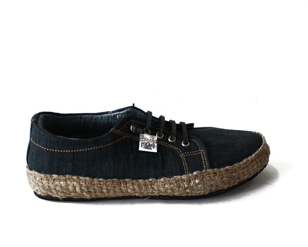 solerebels Charcoal URBAN RUNNER natuu Lace-Ups