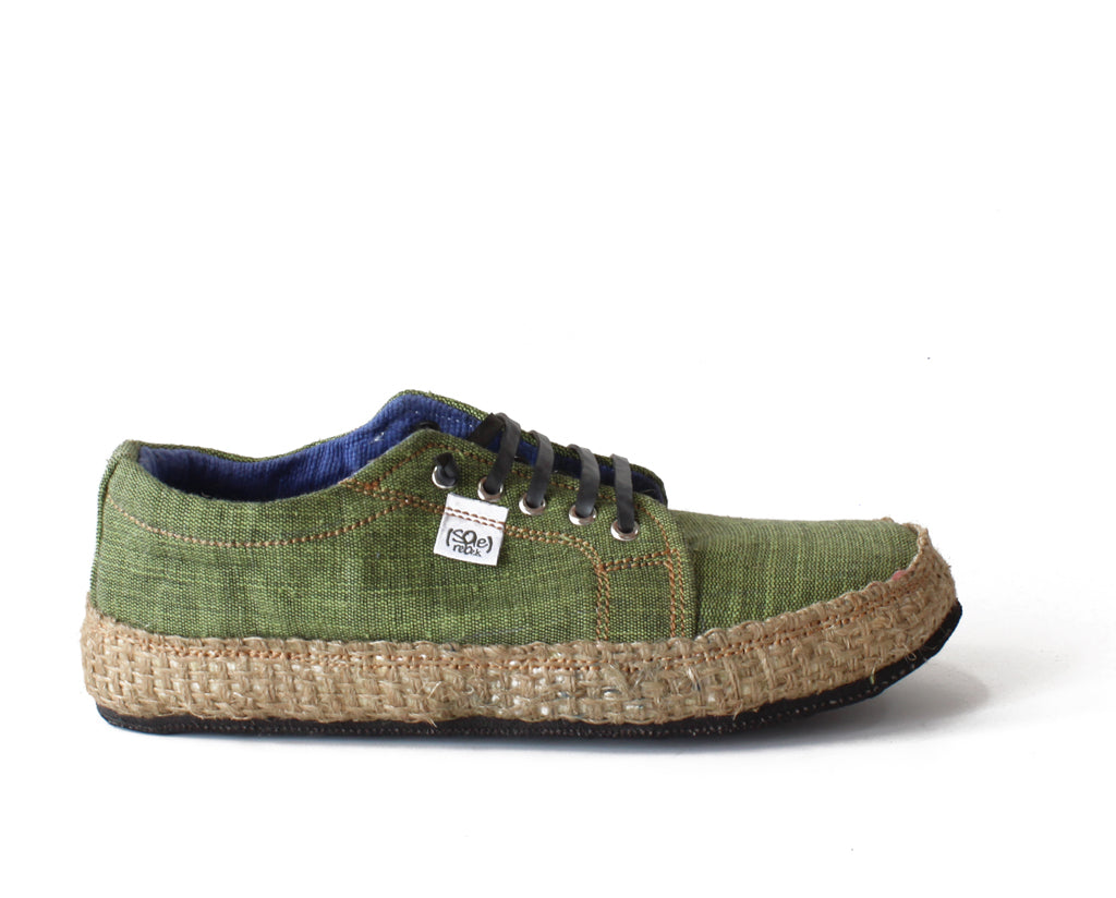solerebels Sage Green URBAN RUNNER natuu Lace-Ups