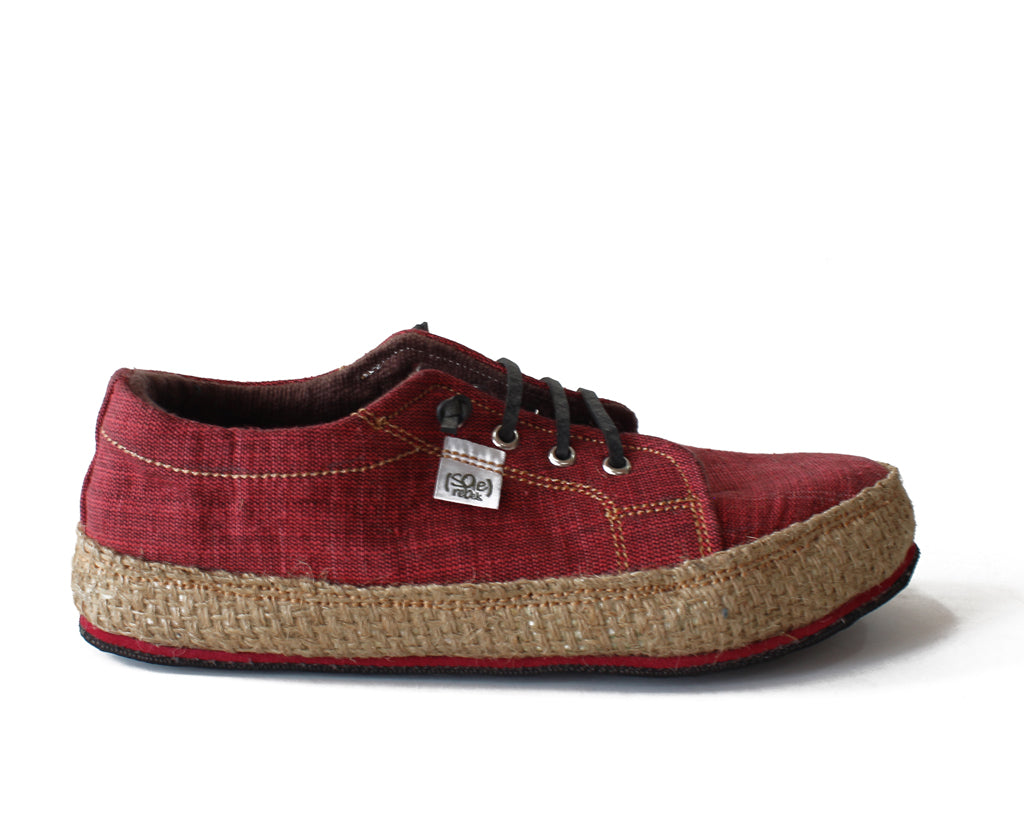 solerebels Cherry Red URBAN RUNNER natuu Lace-Ups