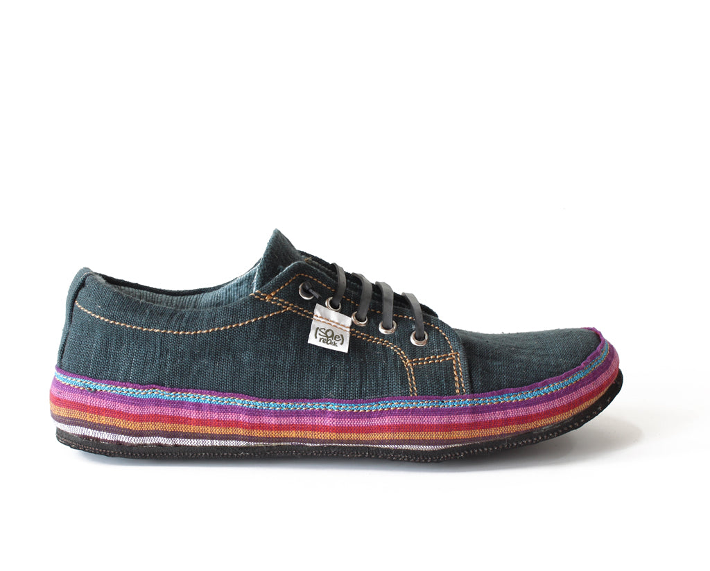 solerebels Denim Blue URBAN RUNNER tght Lace-Ups
