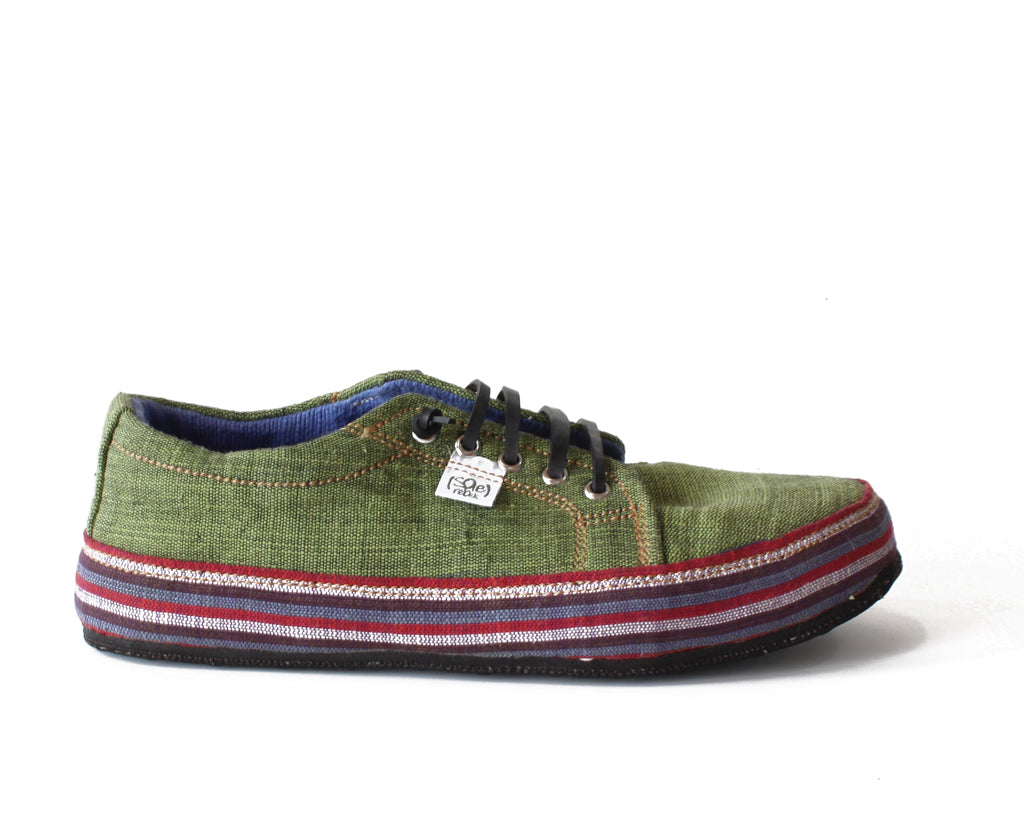 solerebels Sage Green URBAN RUNNER tght Lace-Ups
