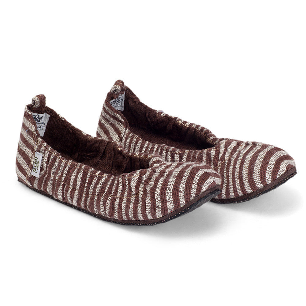solerebels Brown Stripe tooTOOs supah FLEX tooTOOs