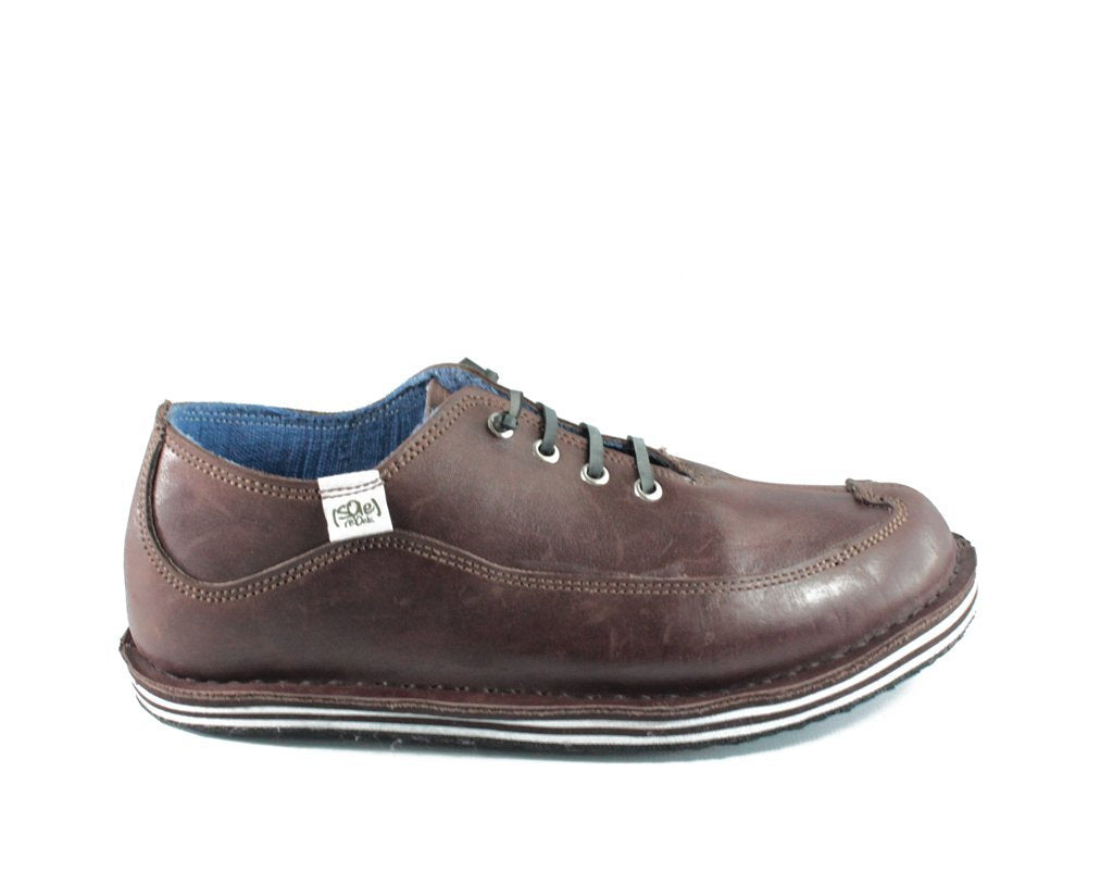 solerebels Brown Leather BENJAMINS Lace-Ups