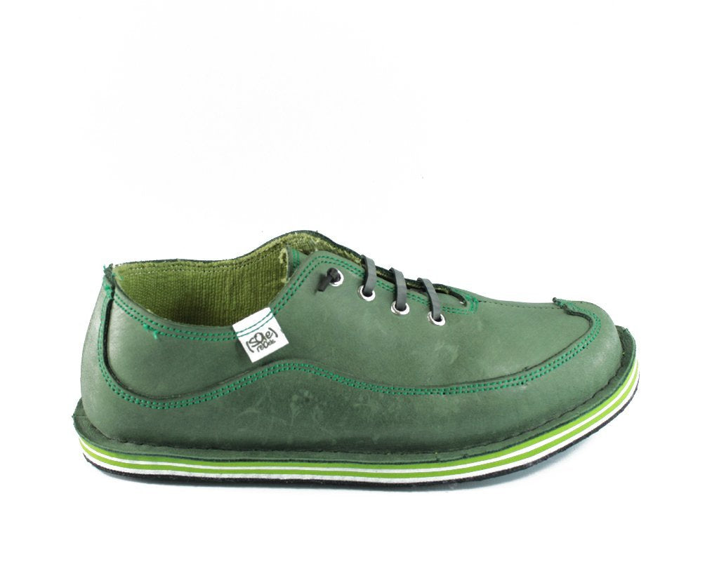 solerebels Green Leather BENJAMINS Lace-Ups