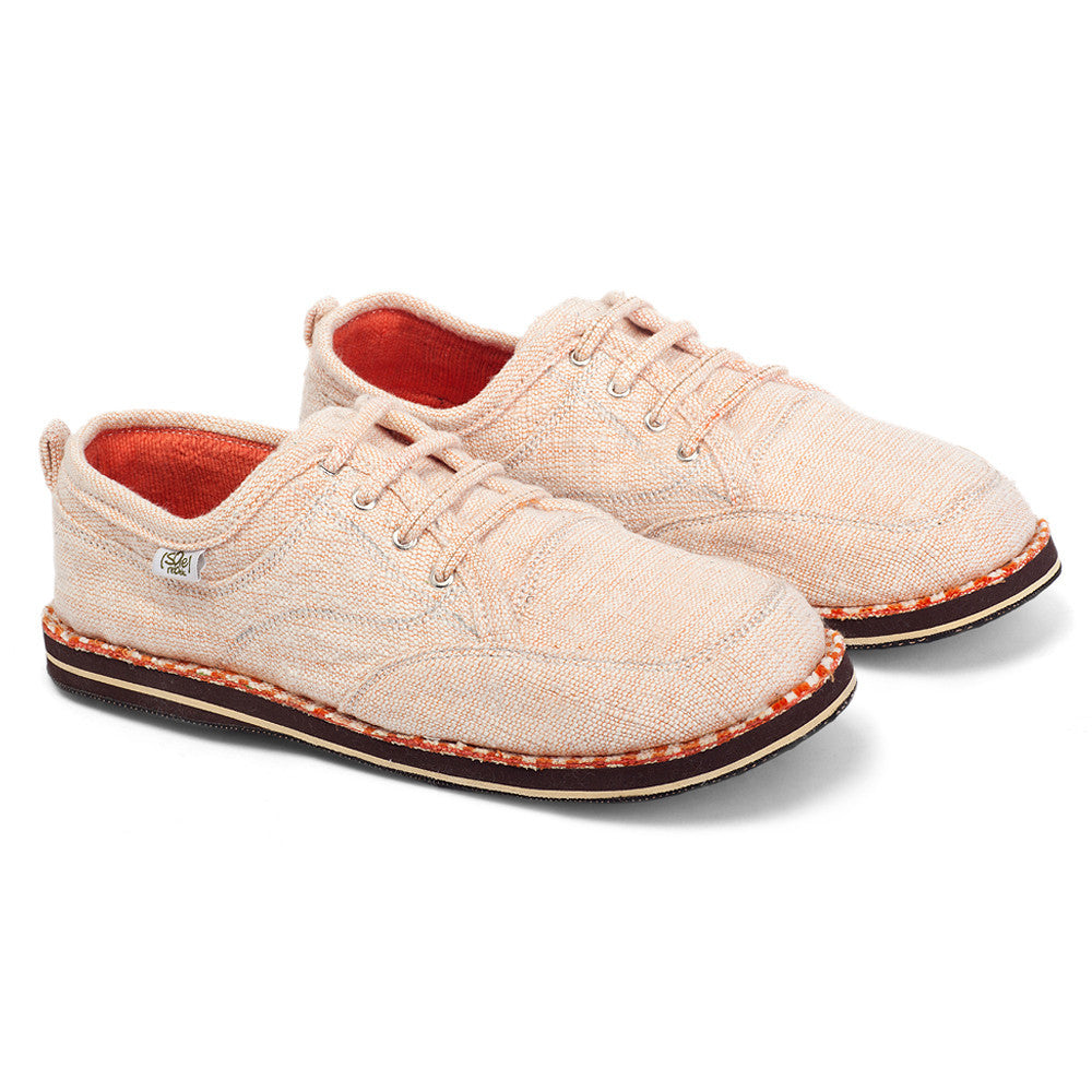 solerebels White Orange runAROUND uNitY Lace-Ups