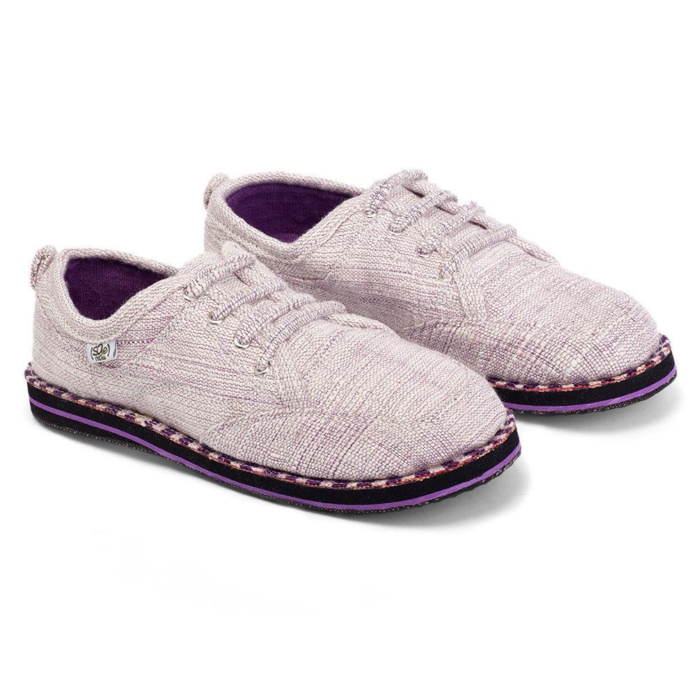 solerebels White Purple runAROUND uNitY Lace-Ups
