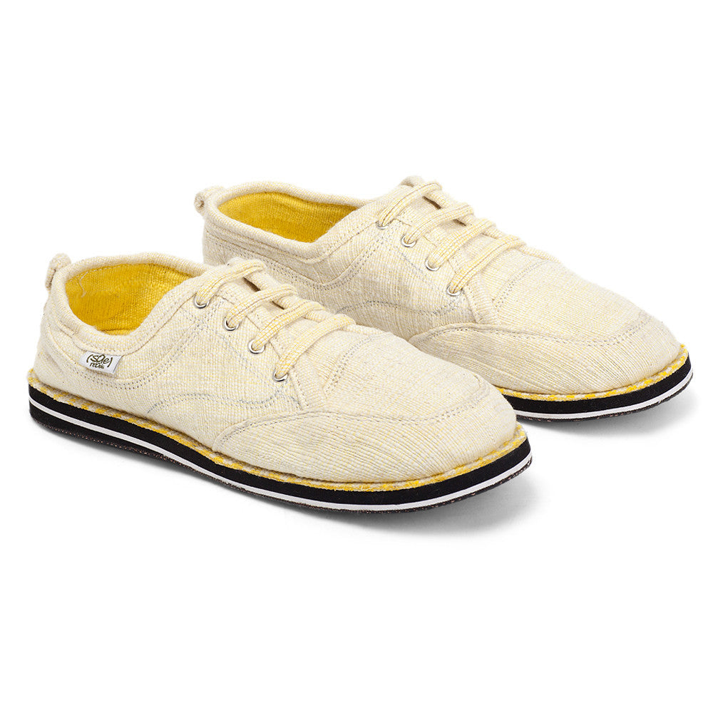 solerebels White Yellow runAROUND uNitY Lace-Ups