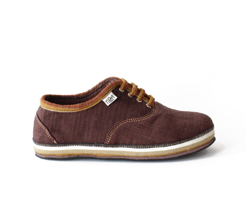 solerebels Chestnut Brown run AROUND FULL on mSh Lace-Ups