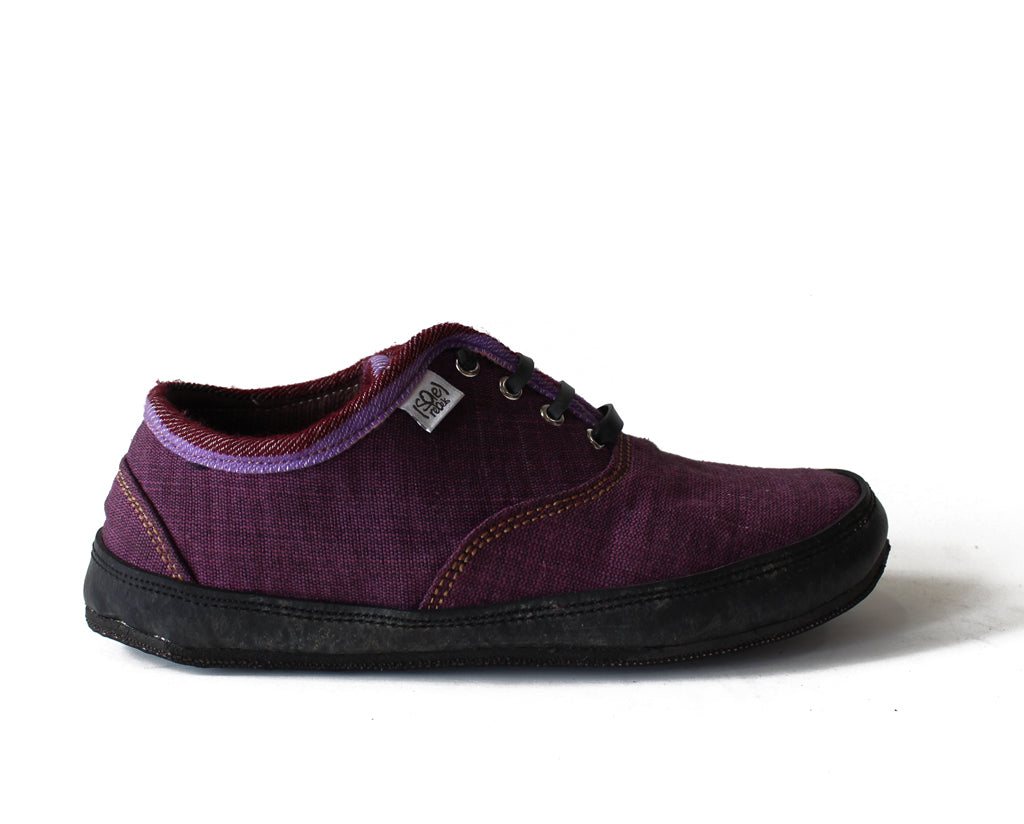 solerebels Plum Purple run AROUND FULL on mSh s2 Lace-Ups