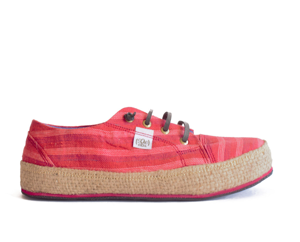 solerebels Red runAROUND bilt 2 Lace-Ups