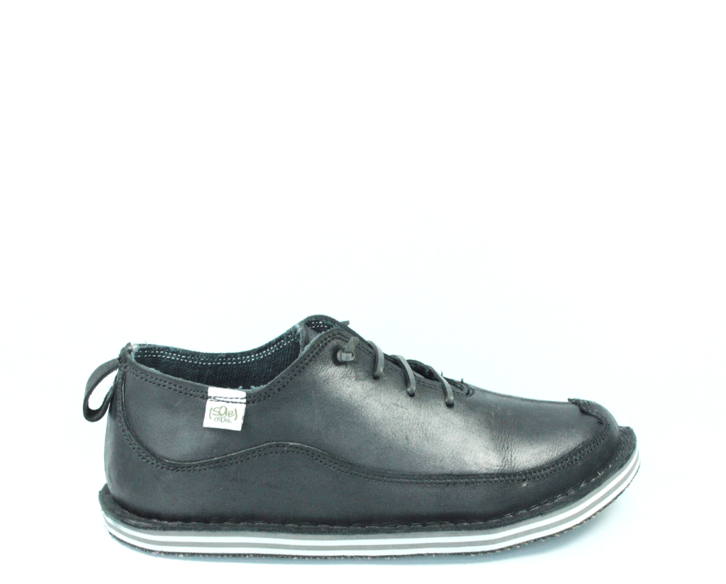 solerebels Black Leather BENJAMINS Lace-Ups