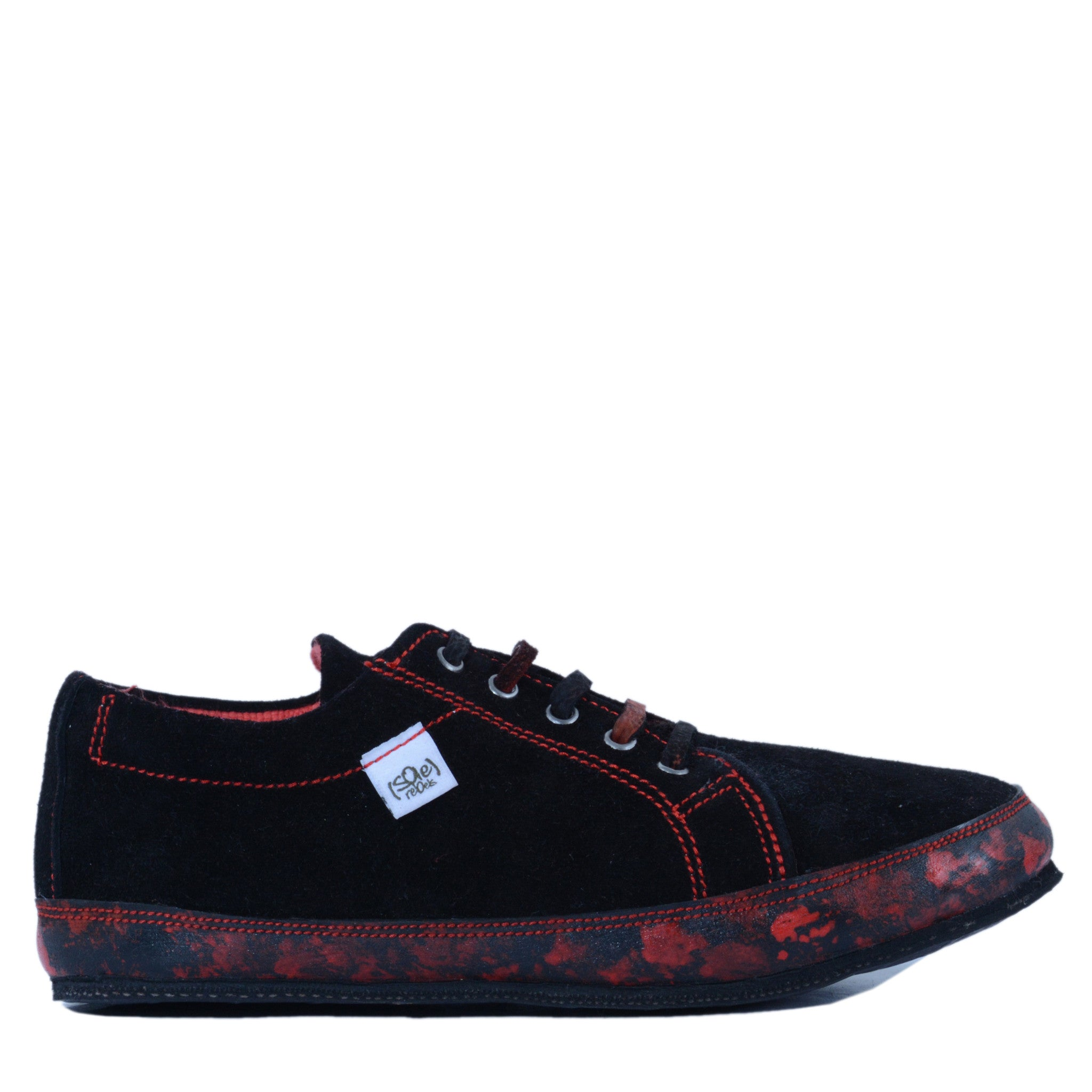 solerebels Red urban runner JP Lace-Ups