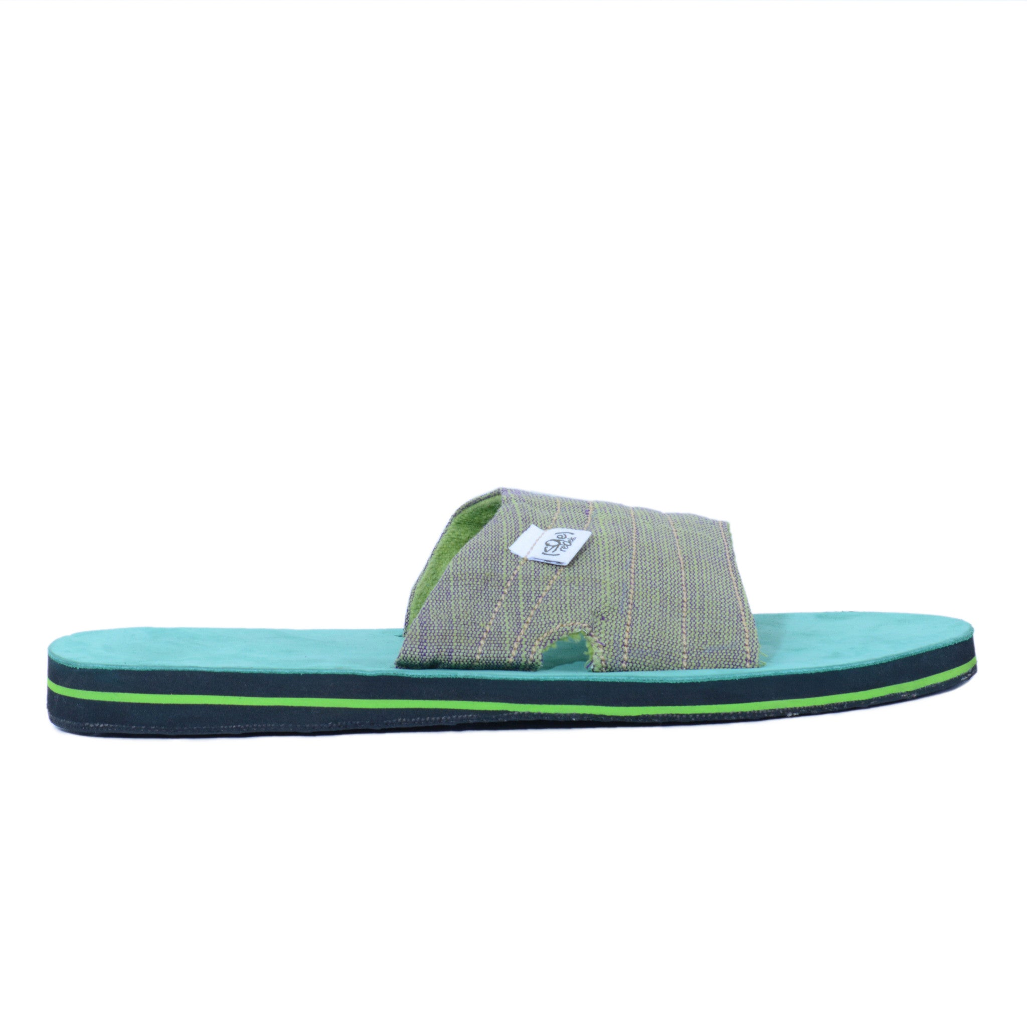 solerebels Green zuck it 2 Sandals