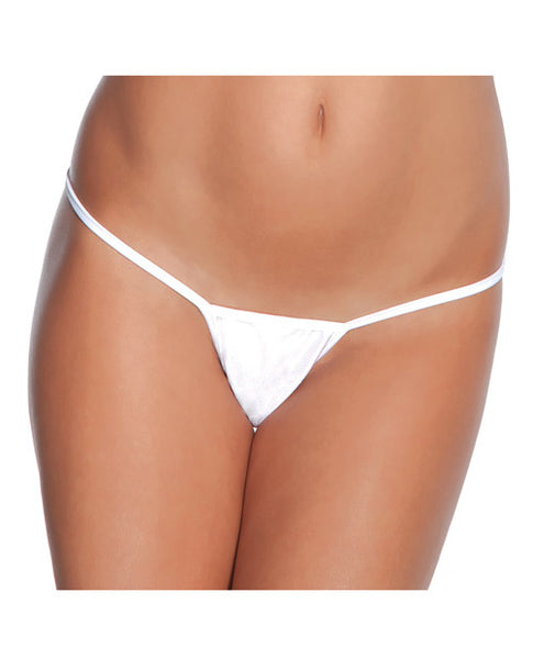 Low Rise Lycra G-String White O/S