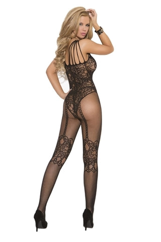 Fishnet Body Stocking - One Size - Black
