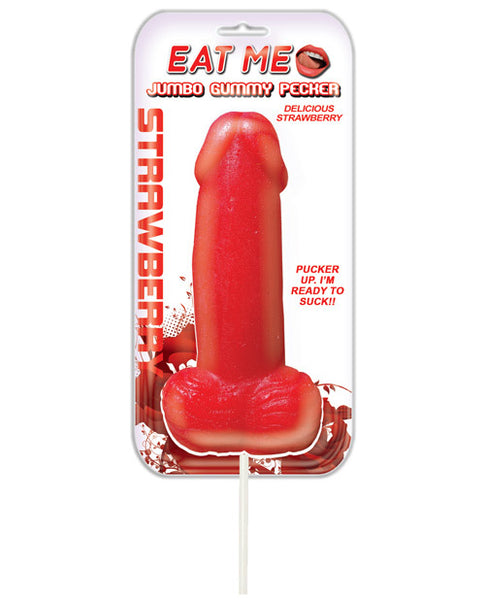 Jumbo Gummy Cock Pop - Strawberry