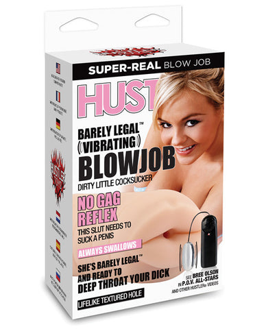 Hustler Barely Legal Vibrating Blowjob Stroker - Bree Olson