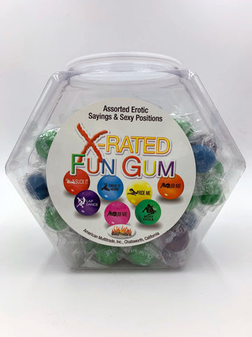 X-Rated Fun Gum Assorted 90 Pc Display - Htp750d