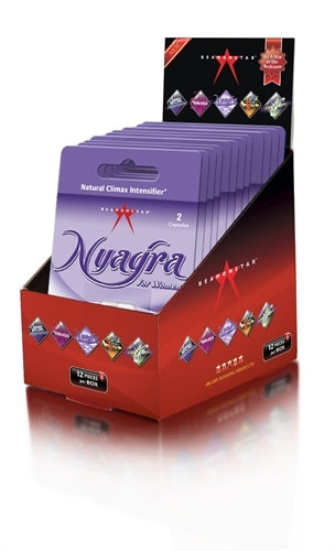 Nyagra Natural Climax Intense - 12 Piece Display - 2 Capsule Blister Pack