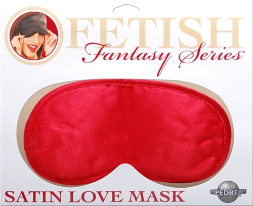 Satin Love Mask - Red