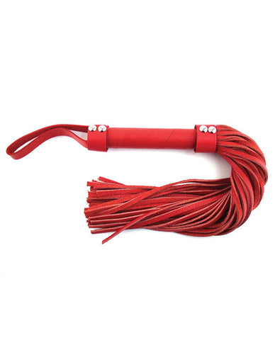 Rouge Short Leather Flogger - Red