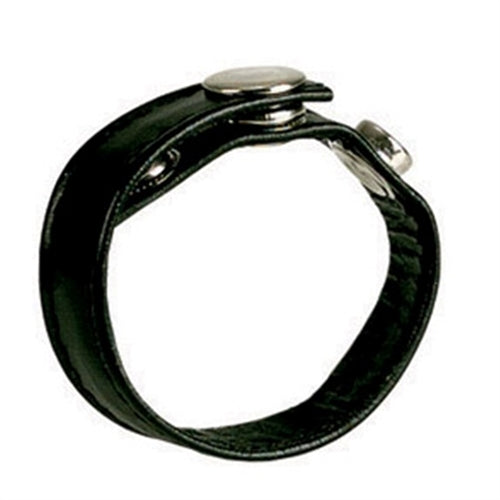 Leather Black 3-Snap Ring