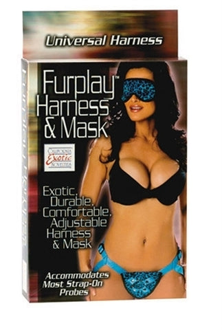Furplay Harness and Mask - Blue Leopard