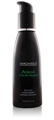 Aqua Candy Apple Flavored Water-Based Lubricant - 4 Oz.