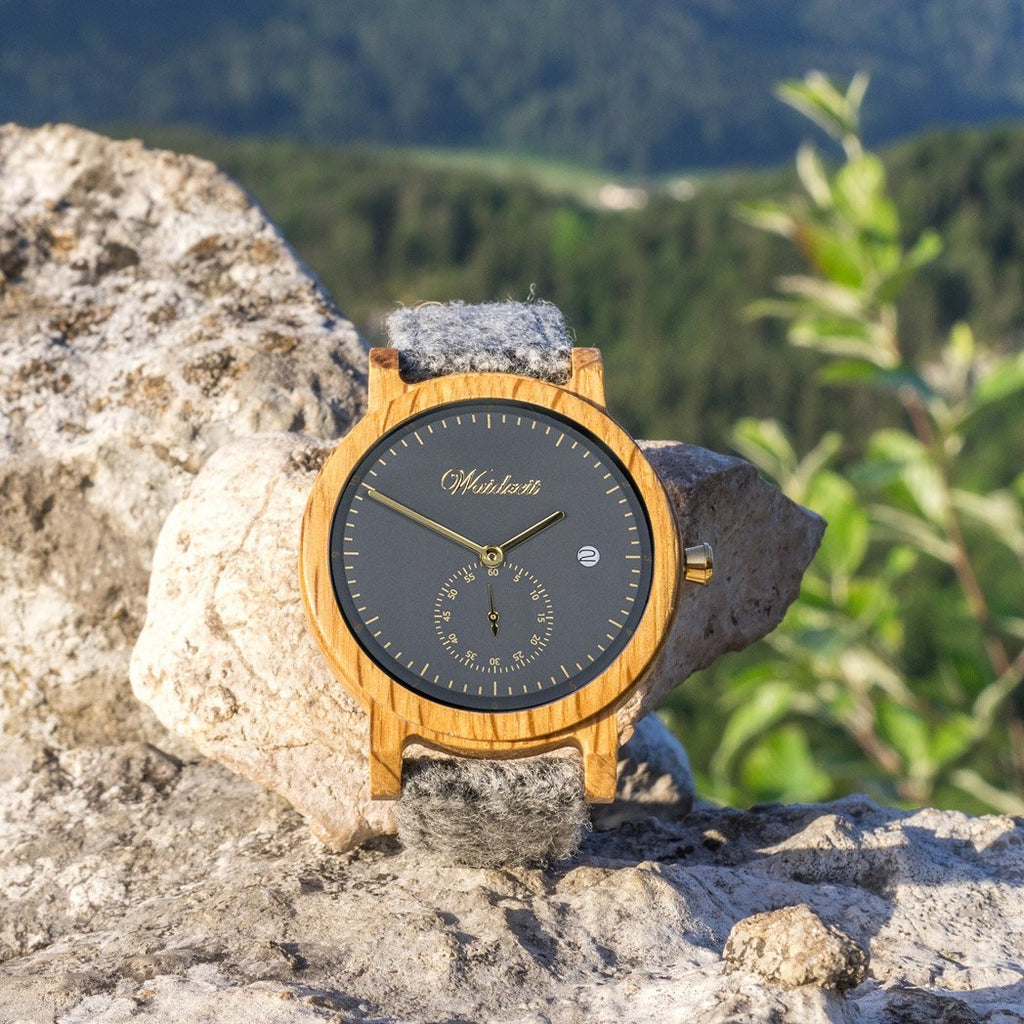 Barrique Alpine Men anthracite with loden strap