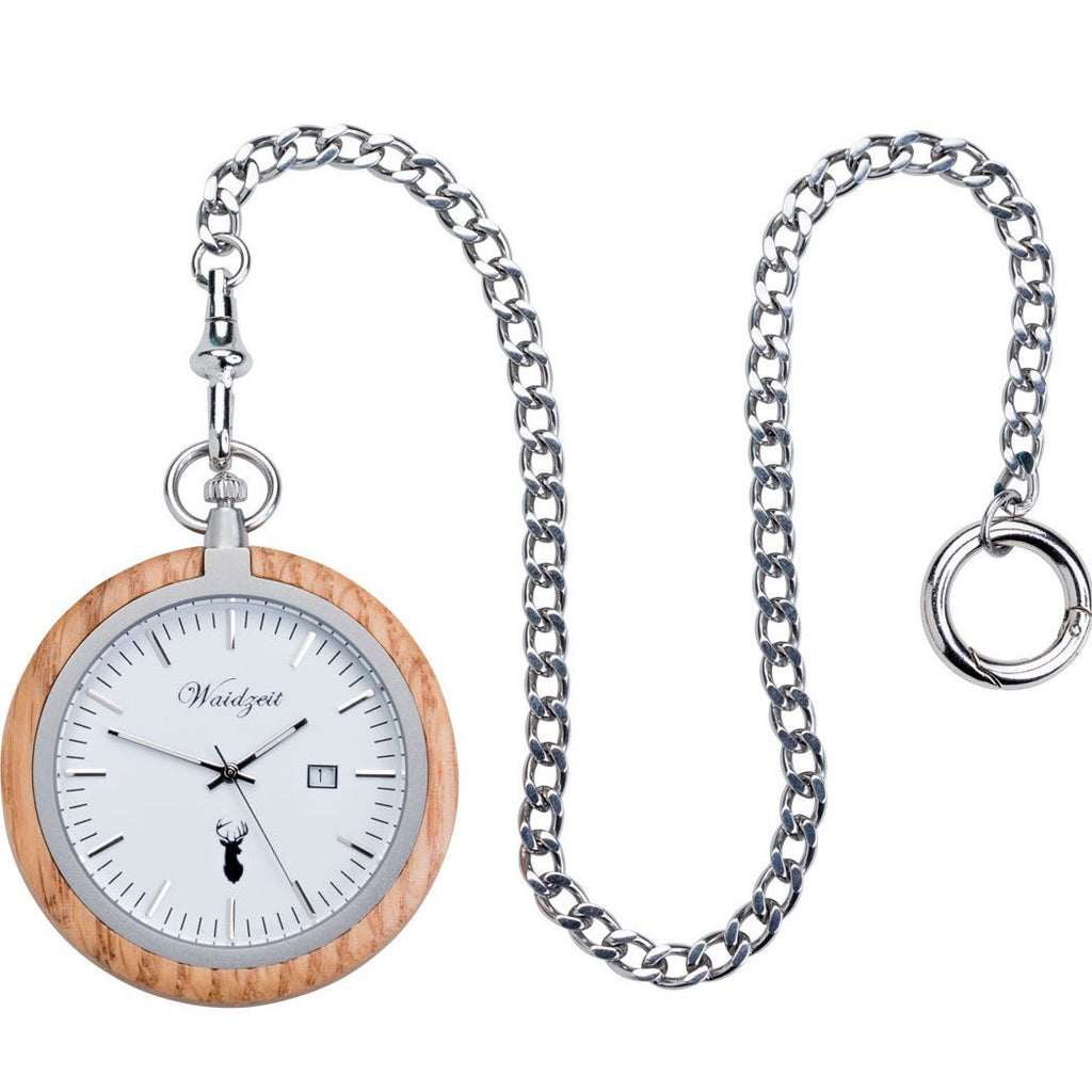 Oak Pocket Watch
