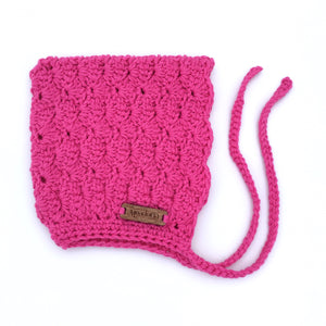 Finsley Bonnet for Baby to Toddler Girl Hot Pink