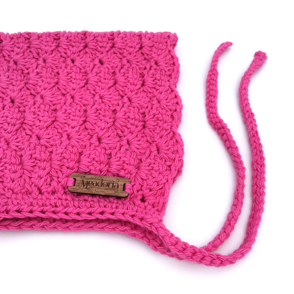 Finsley Bonnet Hot Pink for Baby to Toddler Girl