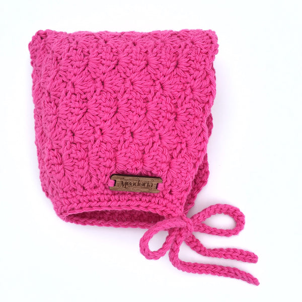 Hot Pink Baby to Toddler Girl Finsley Bonnet