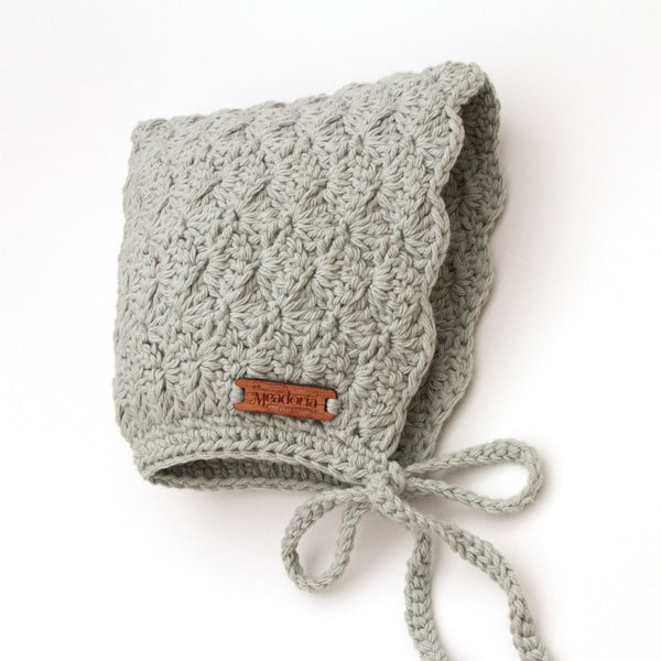 Winter Finsley Bonnet Light Gray by Meadoria