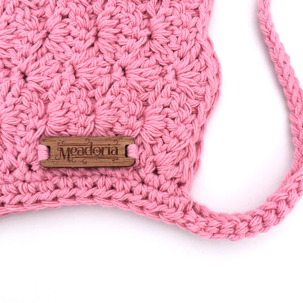 Baby to Toddler Girl Crochet Finsley Bonnet in Pink
