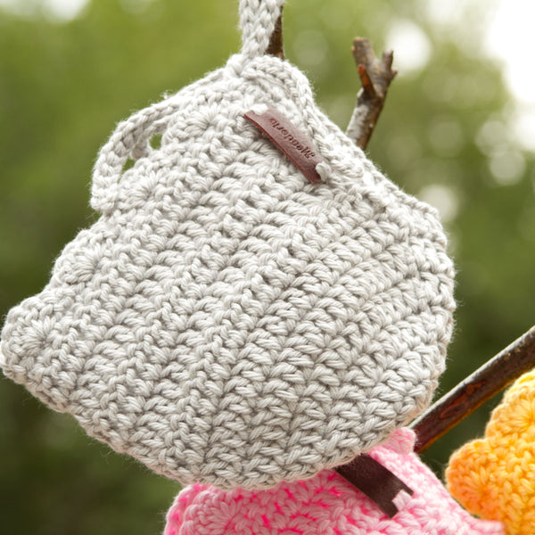 Meadoria Grey Crochet Newborn Baby Girl Hat Ria Bonnet