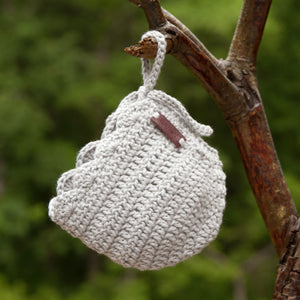 Grey Crochet Newborn Baby Girl Hat Ria Bonnet by Meadoria