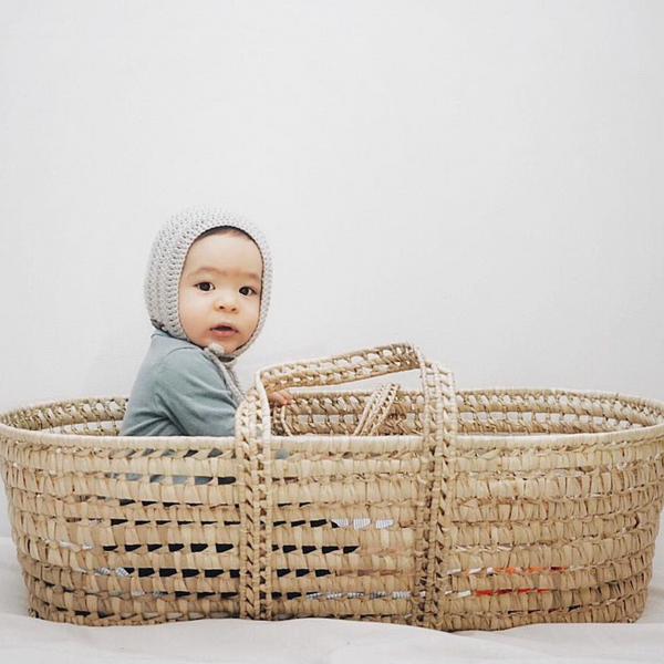 Baby Boy Grey Rio Bonnet Crochet Cotton