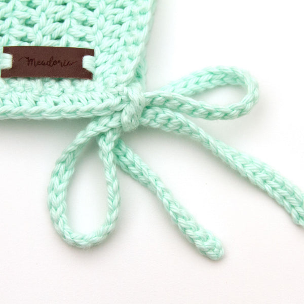 Newborn Rio Bonnet Crochet Cotton Pastel Mint