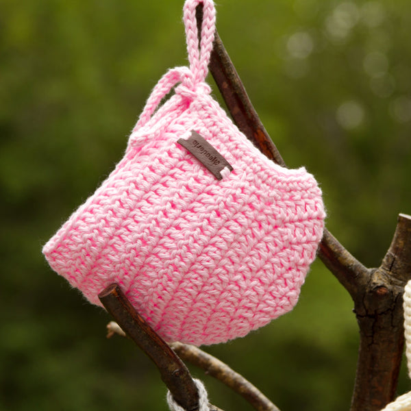 Crochet Rio Bonnet for Baby Girl in Pink
