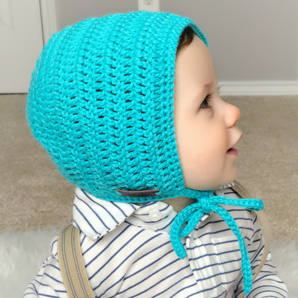 Baby Boy Crochet Rio Bonnet Teal Blue
