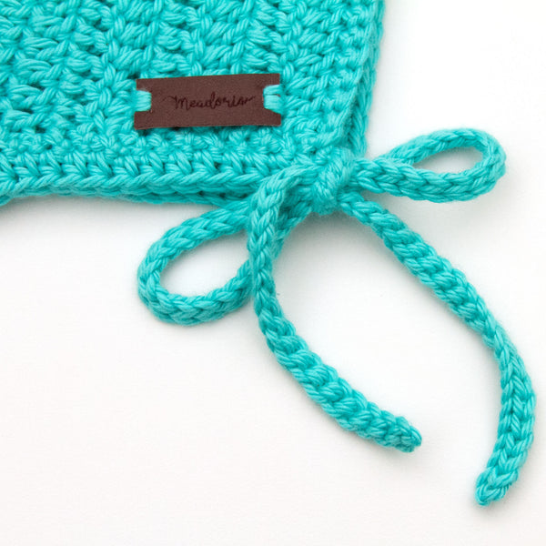 Teal Blue Rio Bonnet Crochet Baby Boy