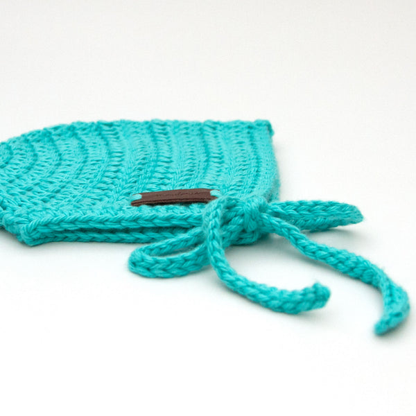Teal Blue Baby Boy Crochet Rio Bonnet