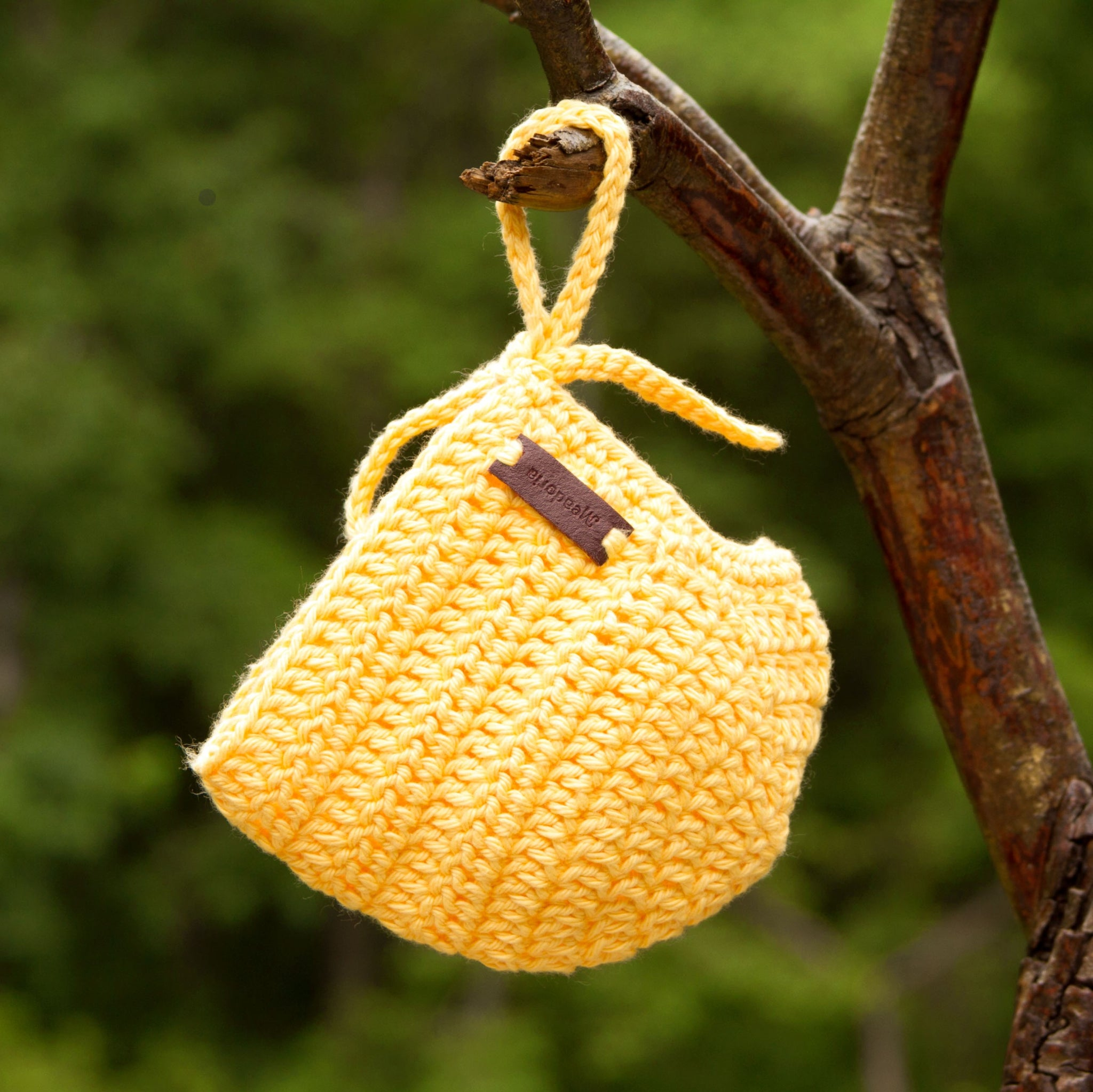 Yellow Handmade Cotton Baby Hat Rio Bonnet by Meadoria