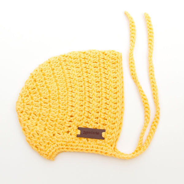 Meadoria Handmade Cotton Baby Hat Rio Bonnet in Yellow