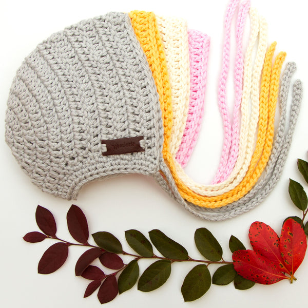 Meadoria Yellow Handmade Cotton Hat Rio Bonnet for Baby