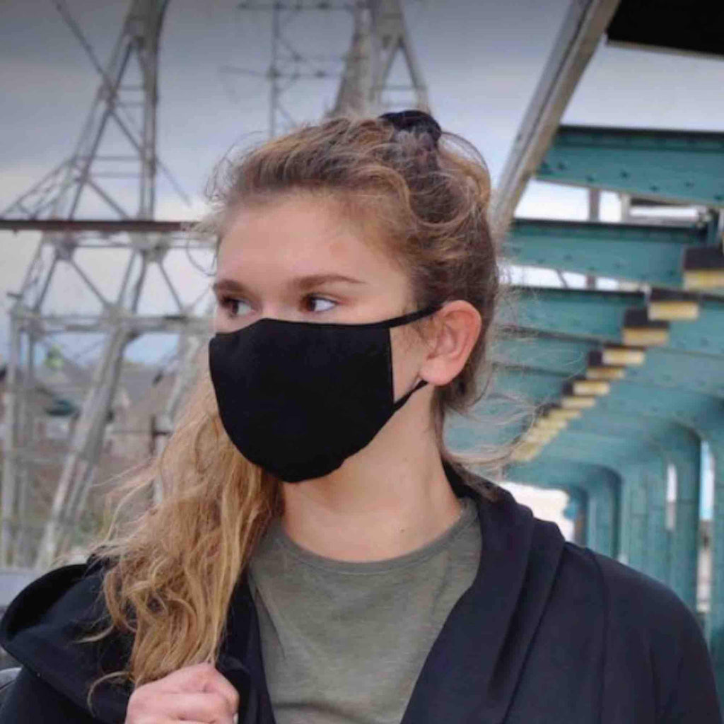 3D knit multilayer reusable FACE MASK by Hemp Black | Protection & Isolation